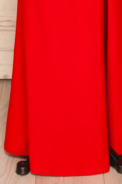 Kavadartsi Red V-Neck Maxi Dress | La petite garçonne  bottom