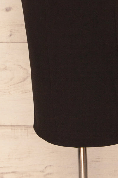 Kavala Black Fitted Midi Dress | La petite garçonne bottom