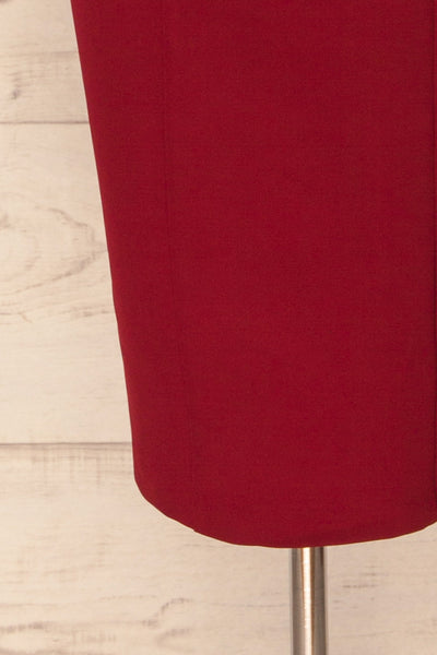 Kavala Burgundy Fitted Midi Dress | La petite garçonne bottom