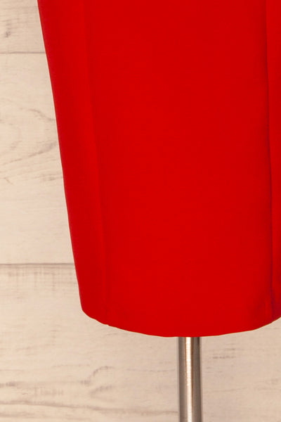 Kavala Red Fitted Midi Dress | La petite garçonne bottom