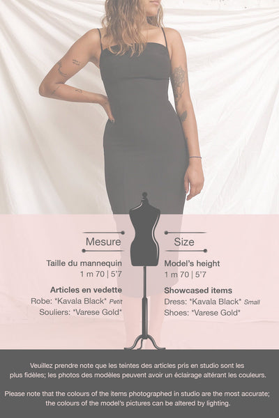 Kavala Black Fitted Midi Dress | La petite garçonne template