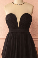 Kaylee Black Layered Tulle Bridesmaid Gown | Boudoir 1861