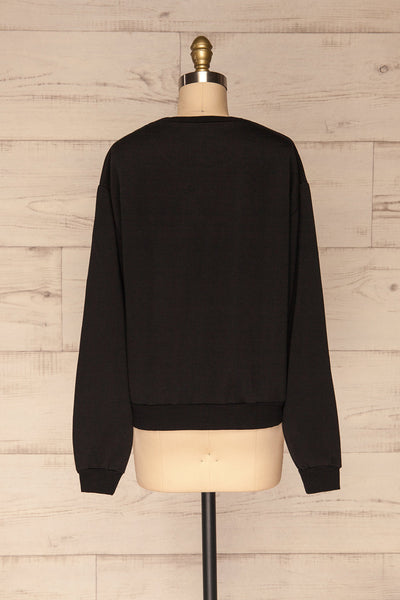 Kazann Black Crew Neck Sweater | La petite garçonne  back view