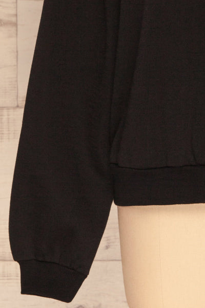 Kazann Black Crew Neck Sweater | La petite garçonne  bottom