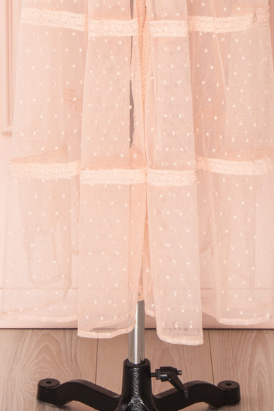 Kealoha Pink Embroidered Polka Dot Mesh Kimono | Boutique 1861 8