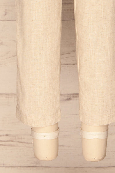 Keflavik Beige High Waist Cropped Pants | La petite garçonne bottom