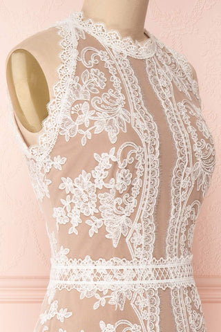 Kekepania White Lace Halter Mermaid Bridal Gown | Boudoir 1861