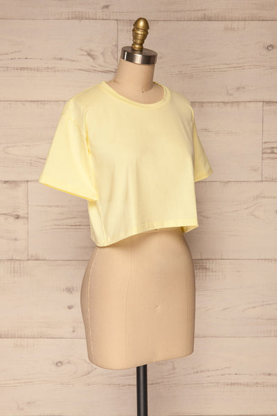 Kells Yellow Cropped T-Shirt | La petite garçonne side view