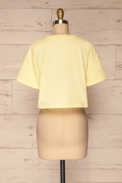 Kells Yellow Cropped T-Shirt | La petite garçonne back view
