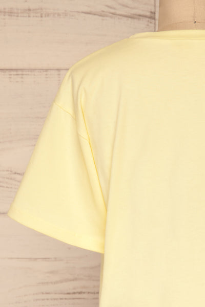 Kells Yellow Cropped T-Shirt | La petite garçonne back close-up