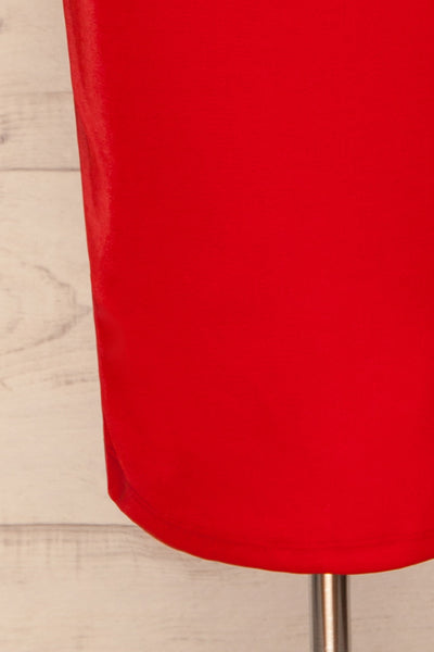 Kenty Red Party Dress | Robe Rouge | La Petite Garçonne bottom close-up