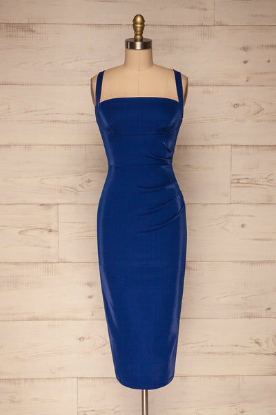 Kenty Royal Blue Party Dress | Robe Rouge | La Petite Garçonne front view