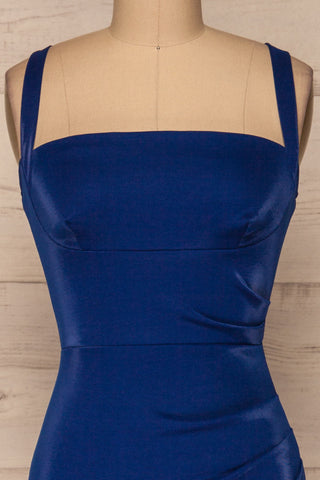 Kenty Royal Blue Party Dress | Robe Rouge | La Petite Garçonne front close-up