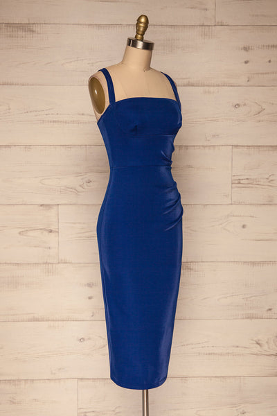 Kenty Royal Blue Party Dress | Robe Rouge | La Petite Garçonne side view