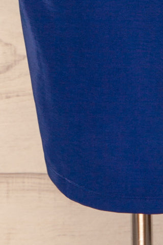 Kenty Royal Blue Party Dress | Robe Rouge | La Petite Garçonne bottom close-up