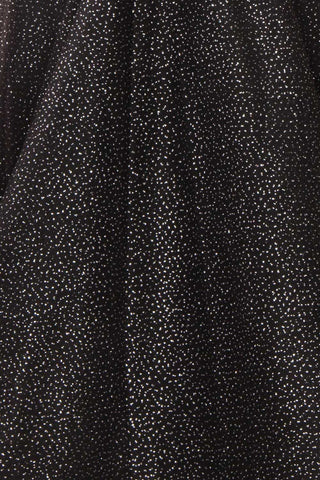 Kenyka Black & Silver Glitter A-Line Party Dress | FABRIC DETAIL | Boutique 1861