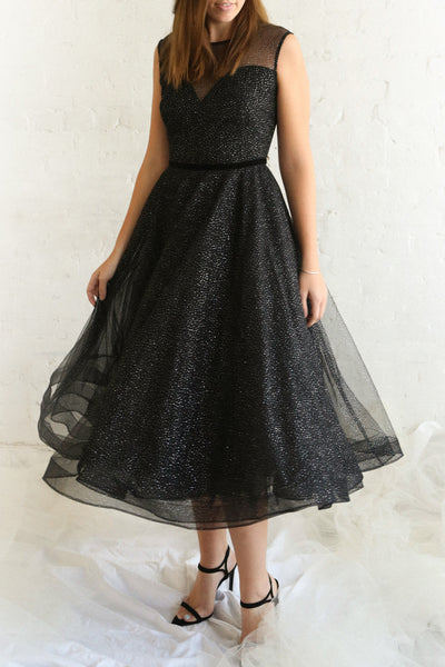 Kenyka | Black Glitter Dress