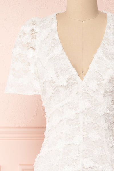Keonaona White Lace A-Line Cocktail Dress | Boudoir 1861 2