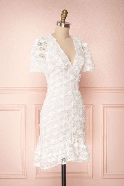 Keonaona White Lace A-Line Cocktail Dress | Boudoir 1861 3