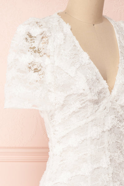 Keonaona White Lace A-Line Cocktail Dress | Boudoir 1861 4