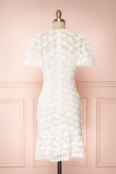 Keonaona White Lace A-Line Cocktail Dress | Boudoir 1861 5