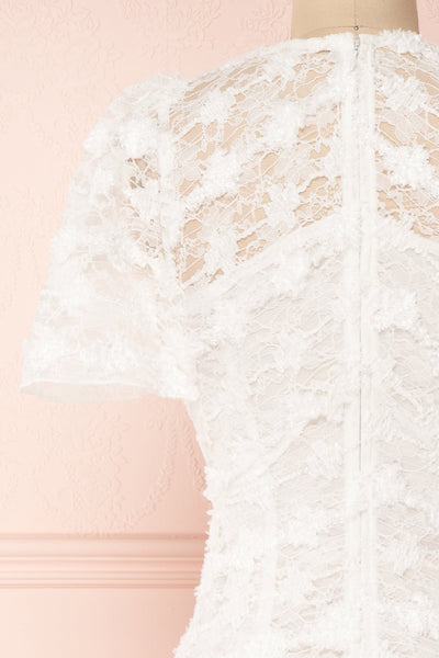 Keonaona White Lace A-Line Cocktail Dress | Boudoir 1861 6