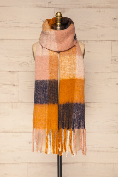 Kepice Fall Colorful Soft Scarf with Fringe | La Petite Garçonne basic loop view