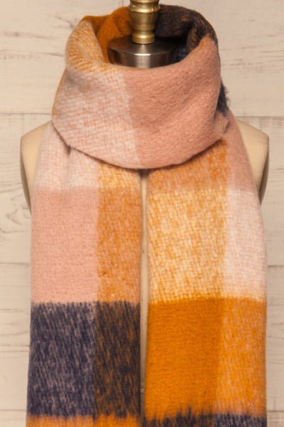 Kepice Fall Colorful Soft Scarf with Fringe | La Petite Garçonne basic loop close-up