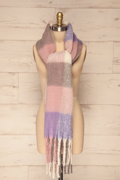 Kepice Spring Colorful Soft Scarf with Fringe | La Petite Garçonne front tie view