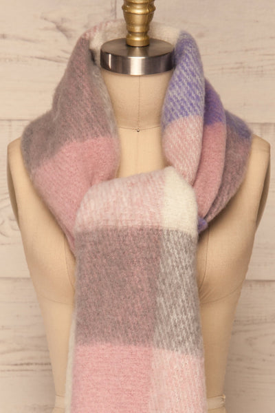 Kepice Spring Colorful Soft Scarf with Fringe | La Petite Garçonne front tie close-up