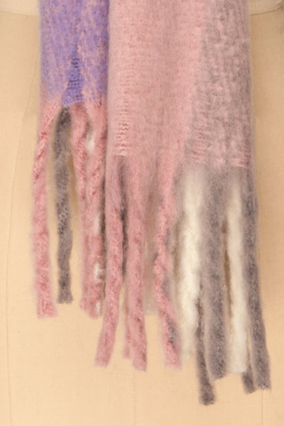 Kepice Spring Colorful Soft Scarf with Fringe | La Petite Garçonne bottom close-up