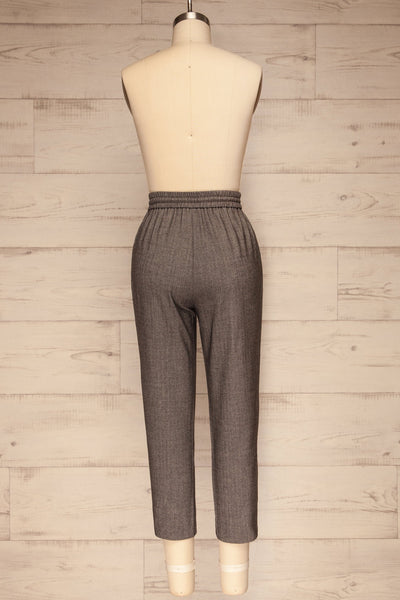 Kerames Cropped Grey Drawstring Pants | La petite garçonne back view