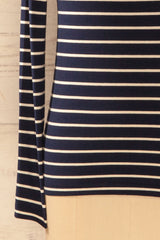 Kerpen - Ivory and navy striped top