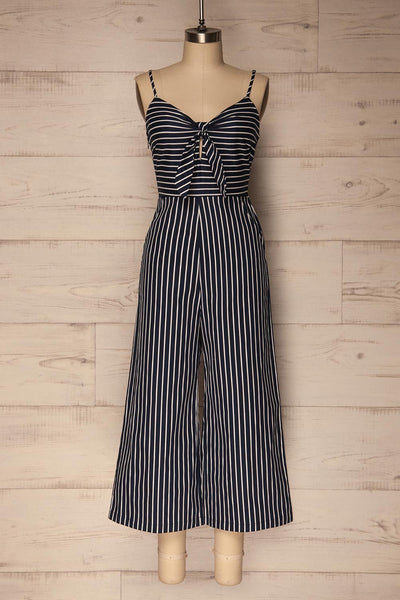 Kettering Navy Blue & White Striped Jumpsuit | La Petite Garçonne
