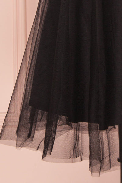 Ketty Dark | Black Tulle Dress