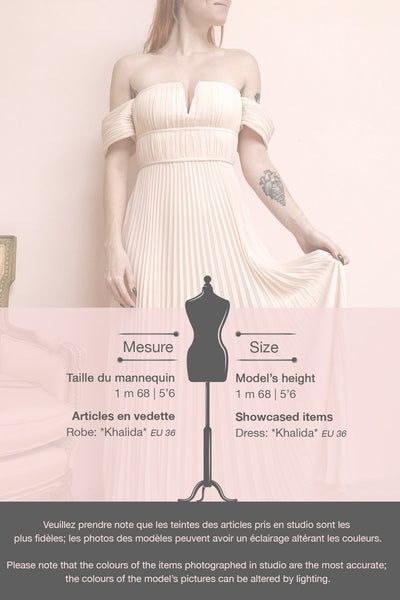Khalida Light Pink Pleated Maxi Dress | Boudoir 1861 template