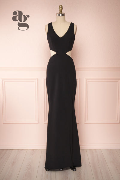 Kiira Black Cut-Outs Mermaid Gown | Boudoir 1861 bottom