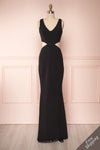 Kiira Black Cut-Outs Mermaid Gown | Boudoir 1861