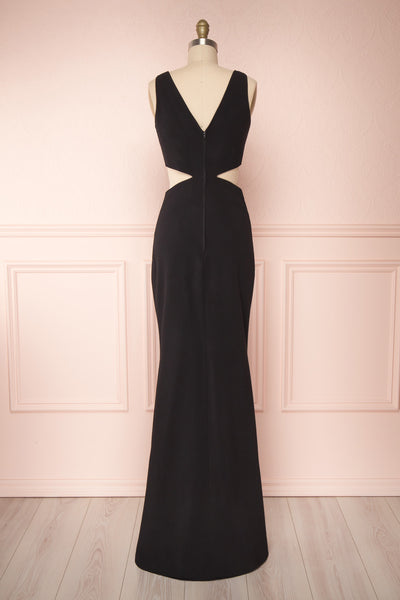 Kiira Black Cut-Outs Mermaid Gown | Boudoir 1861 back view