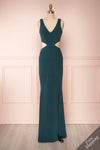 Kiira Emerald Green Cut-Outs Mermaid Gown | Boudoir 1861
