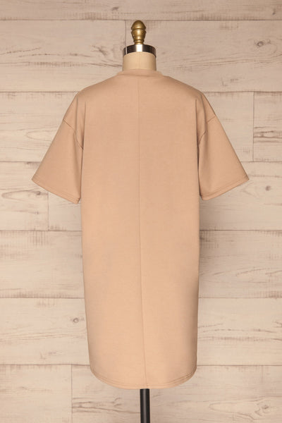 Kilkenny Beige T-Shirt Dress | La petite garçonne back view