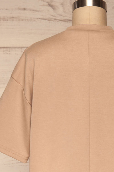 Kilkenny Beige T-Shirt Dress | La petite garçonne back close up