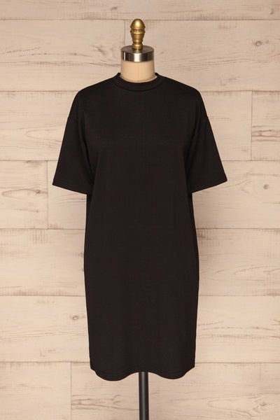 Kilkenny Black T-Shirt Dress | La petite garçonne front view