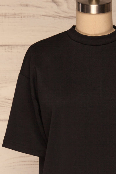 Kilkenny Black T-Shirt Dress | La petite garçonne front close up