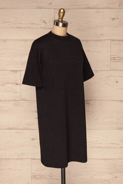Kilkenny Black T-Shirt Dress | La petite garçonne side view