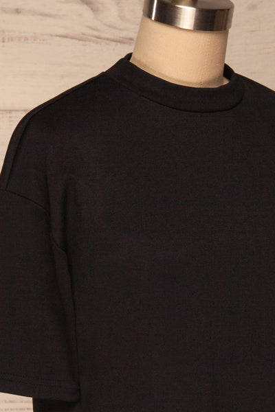 Kilkenny Black T-Shirt Dress | La petite garçonne side close up