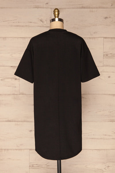 Kilkenny Black T-Shirt Dress | La petite garçonne back view