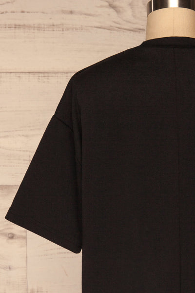 Kilkenny Black T-Shirt Dress | La petite garçonne back close up