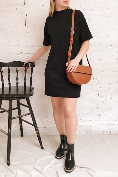 Kilkenny Black T-Shirt Dress | La petite garçonne on model