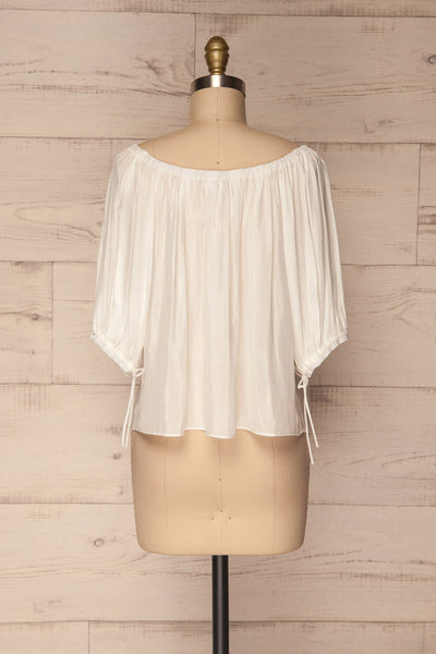 Kimmeria White Off-Shoulder Loose Top | La Petite Garçonne 5